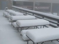 "9"" on the tables at the Shavers Center."